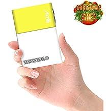 Mini Proyector, Artlii Proyector Portable de Bolsillo con la entrada de USB/SD/AV/HDMI para el interfaz TV/ Películas/ Juegos/ Exposiciones/ Karaoke