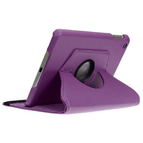 doupi Deluxe Schutzhülle für iPad Mini 1 2 3, Smart Case Sleep/Wake Funktion 360 Grad drehbar Schutz Hülle Ständer Cover Tasche, lila