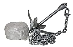 H2o Galvanised 1.5 KG Folding Anchor (Including Shackle, Rope & Chain)