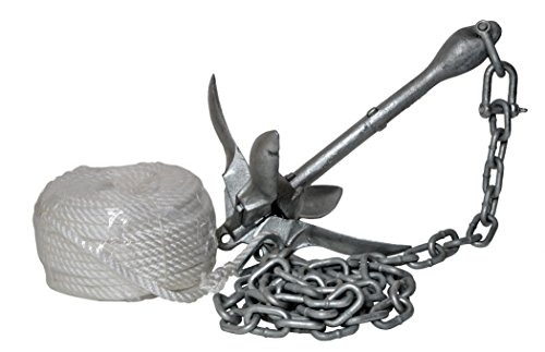 H2o Galvanised 1.5 KG Folding Anchor (Including Shackle, Rope & Chain) by...