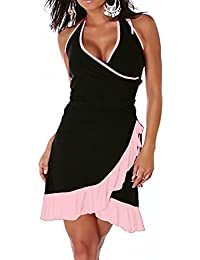04858200e90c Miniabito abito donna vestitino ballo latino salsa merengue dress danza  LI-1490