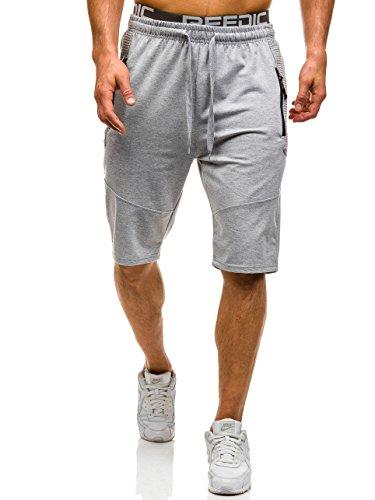 BOLF-Hombre-Pantalones-Cortos-Deportivos-Short-Bermuda-Bolsillos-Casual-7G7-Motivo