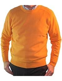 Pull 1st American 100% Cachemire col Ras du Cou - Pullover pour Homme  Manches Longues 3802da71995
