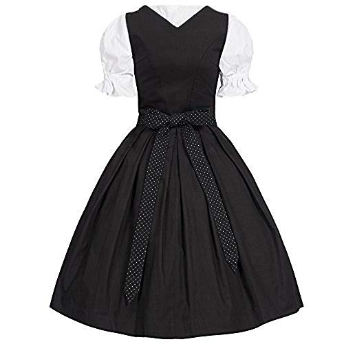 Frankenstein Kostüm Einfach - INLLADDY 2019 Kleider Costume Damen Korsett Dienstmädchen Kostüm Retro Frauen Cocktailkleid Knielang Rockabilly Cosplay Kleid Vintage Abend Party Elegant Schwarz XS
