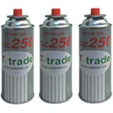 ALTIGASI 3 Unidades – Cartucho Bote de Gas licuado 250 gr Art. kcg250 Ideal Soldador