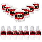 4 stücke Weihnachten Serviette Ringe Weihnachten Gürtelschnalle Weihnachtsmann Abdeckung Ornamente Party Table Dinner Dekoration