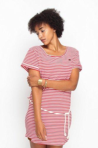 Teeshirt-Dress RINGEL RedWhiteStriped Rot