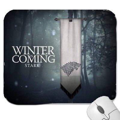 A Game Of Thrones #2 Mouse Mat with the wording Winter is coming Stark.. Premium Quality Thick Rubber Mouse Mat Pad Soft Comfort Feel Finish