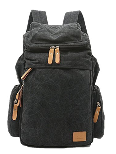 Herren-Rucks?cke-15,6-Zoll-Notebook-Taschen canvas Umh?ngetasche Black