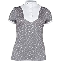 Shires Aubrion Broadway - Camiseta para Mujer, diseño Floral, Color Gris, Small