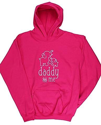 HippoWarehouse - Sweat-shirt à capuche - Fille - rose - 8 ans