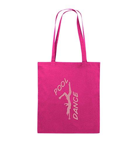 Comedy Bags - POOL DANCE - FIGUR - Jutebeutel - lange Henkel - 38x42cm - Farbe: Schwarz / Pink Pink / Rosa