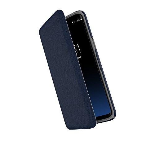 Image of Speck Presidio Folio Case Schutzhülle mit Versteckten Kartensteckplatz für Samsung Galaxy S9 - Marineblau/Grau