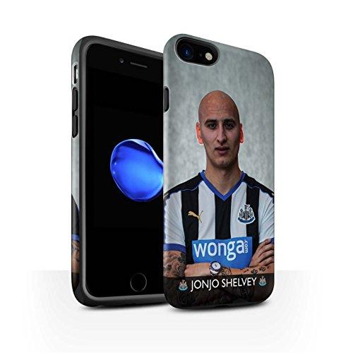 Offiziell Newcastle United FC Hülle / Matte Harten Stoßfest Case für Apple iPhone 7 / De Jong Muster / NUFC Fussballspieler 15/16 Kollektion Shelvey