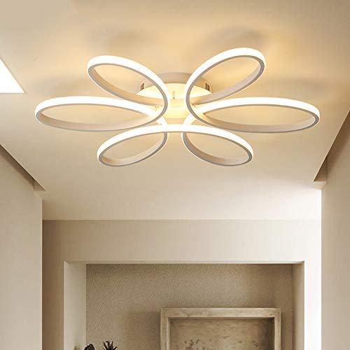 X&hui LED-Deckenleuchte, einfach und modern, Wohnzimmer, Schlafzimmer, Esszimmer, Kinderzimmer, pflegeleicht, weißes Licht, warmweißes Licht, 58 cm, 74 cm, 91 cm,White,58cm -