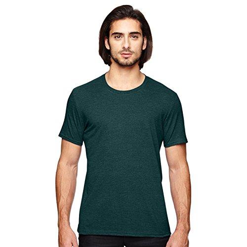 Anvil Herren Modern T-Shirt Heather Dark Green