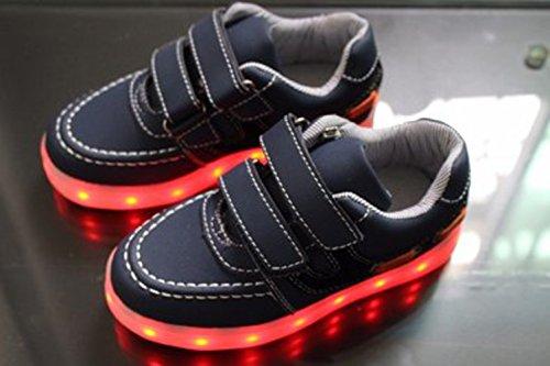 Jungen Führte Kinder Trainer Mädchen Black present 7 Handtuch Led junglest Sportschuh Leuchten kleines Farben Turnschuhe Sneakers Czzq0Sw