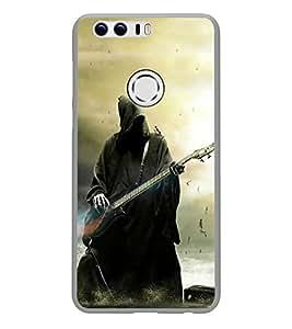 Fuson Designer Back Case Cover for Huawei Honor 8 (Guitar Electrical Guitar Black Guitar guitar With Strings Black electrical guitar)
