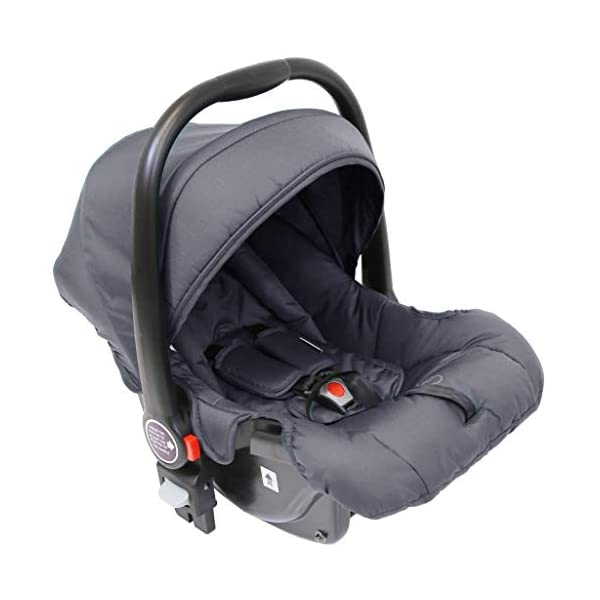 iSafe Marvel 2in1 Complete Pram System Pushchair and Carseat - Charcoal Black iSafe  5
