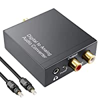 OLRIKE DAC Digital Coaxial or Optical Tosllink to Analog RCA ( L / R ) Audio Converter with 3.5 mm Jack, Adapter for PS3 XBox X360 HDTV Blu-ray Machine Etc
