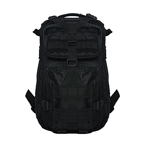 Borsa da escursione 30L3P Tasca tattica 600D Impermeabile zaini Oxford cp Black