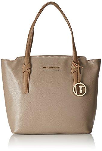 Trussardi Jeans 75B243 Sac Shopper Femme Taupe