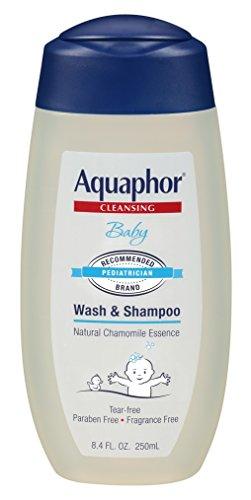 Aquaphor Baby Gentle Wash and Shampoo, Unscented, 8.4Flì Ssigunzen (250ml)–
