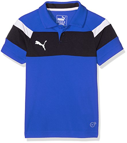 PUMA Kinder Polo Spirit II, royal-white, 152, 654660 02 (Pique Polo Kind Ein)