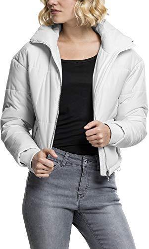 Urban Classics Damen Ladies Oversized High Neck Jacket Jacke,, per pack Weiß (white 220), X-Small (Herstellergröße: XS)