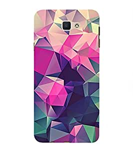 Abstract Multi Dimensional Pattern 3D Hard Polycarbonate Designer Back Case Cover for Samsung Galaxy J7 Prime :: Samsung Galaxy On Nxt