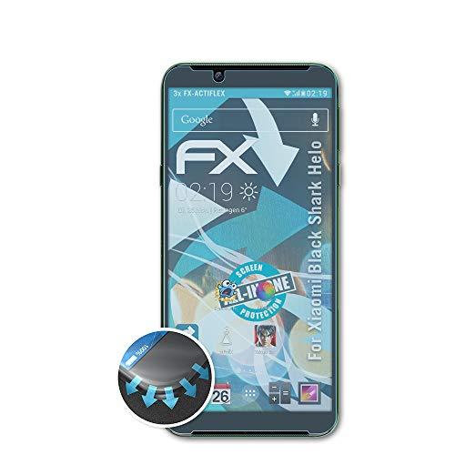 atFolix Schutzfolie passend für Xiaomi Black Shark Helo Folie, ultraklare & Flexible FX Bildschirmschutzfolie (3X)