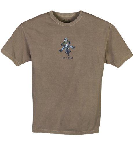 Life Is Good Herren Coast Motorrad, Herren, Leder (Pigment-gefärbtes Aus T-shirt)
