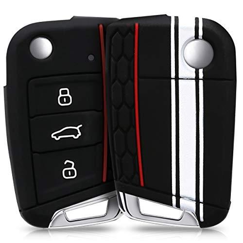 Kwmobile Funda Llave 3 Botones Coche VW Golf 7 MK7