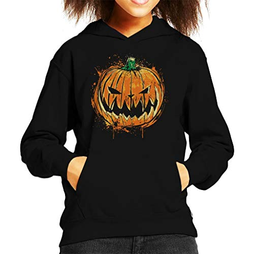 Pumpkin King Halloween Kid's Hooded Sweatshirt (Pumpkin King Jack Halloween The)