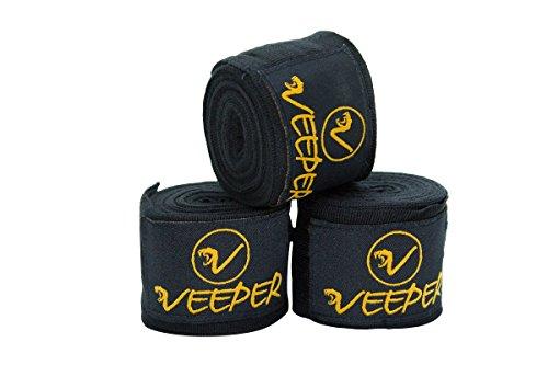 veeper® 2pares 4,5m–Vendas doble Pack de algodón elástico & Elastano–Protector de Mano, enganche para el pulgar, vendas, para saco de arena para boxeo, kickboxing, MMA, Taekwondo