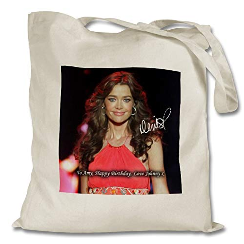 Star Prints UK Denise Richards - The Real Housewives of Beverly Hills 1 Personalised Printed Tote Bag - Shopping - Shoulder - Tote Bag - Autographed Print (with Personalised Message)