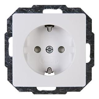 Kopp Schutzkontakt-Steckdose mit Berührungsschutz, arktis-weiss