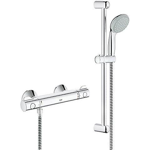 Grohe Grohtherm 800 - Conjunto de ducha compuesto por Termostato Grohterm 800 y el sistema de ducha New Tempesta (34565000)