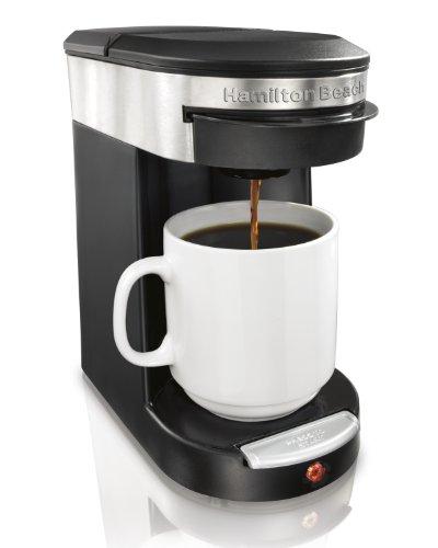 Hamilton Beach Personal Cup - Cafetera (Pod coffee machine, Negro, Color blanco, Café)