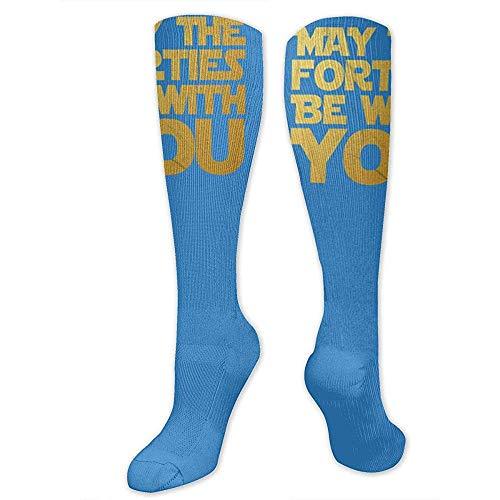 Socken Kostüm Damen Schiedsrichter - RollRoll Knee High Socks Crazy Plant Lady Neuheit Crew Socken Kniestrümpfe für Damen und Herren, 50cm