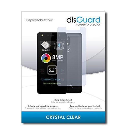 disGuard® Displayschutzfolie [Crystal Clear] kompatibel mit Allview A9 Lite [2 Stück] Kristallklar, Transparent, Unsichtbar, Extrem Kratzfest, Anti-Fingerabdruck - Panzerglas Folie, Schutzfolie