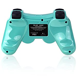 Double Vibrating Wireless Controller for PS3 With Charge Cable (Bright Green)