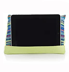coz-e-reader Lime Aztec Tablet cushion Stand