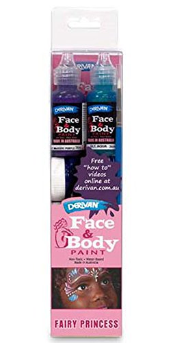 Derivan Face & Body Paint Set Fairy (Fairy Body Art)