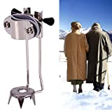 JDD Snow Edelstahl-Trekkingstöcke Steigeisen Krückensteigeisen Trekkingstöcke Ice Tip 5 Cane Crutches