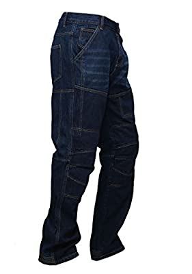 GBG ''LUCA''Motorcycle Armour Trouser Jeans With Protective Lining BLUE Slim Fit
