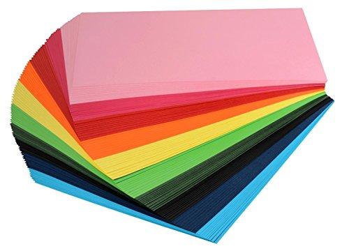 VBS Tonpapier Tonkarton DIN A4 viele Farben 100 Blatt 120 g/qm Papier Bastel-Karton Bastelpapier Großpackung Tonpapierblock