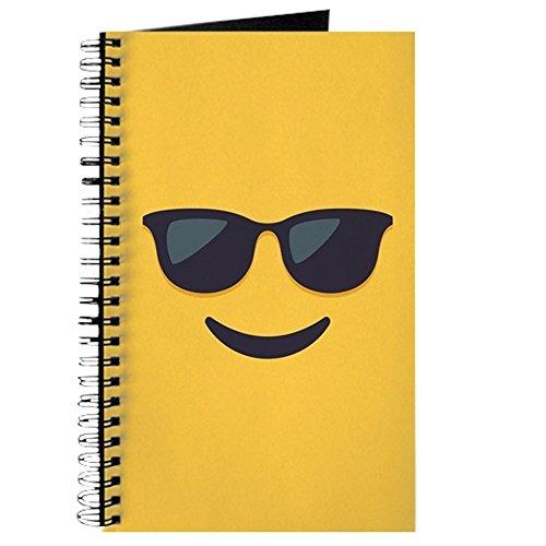 CafePress Notizbuch mit Sonnenbrille, Emoji-Gesicht, Spiralbindung, persönliches Tagebuch, Aufgabentagebuch