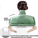LIBINA - Schulter Heizkissen Elektrischer Beheizter Schal-Nackenschutz, Schulter-Hals-Heißer Kompressions-Thermal-Therapie-Stützschulter,Green