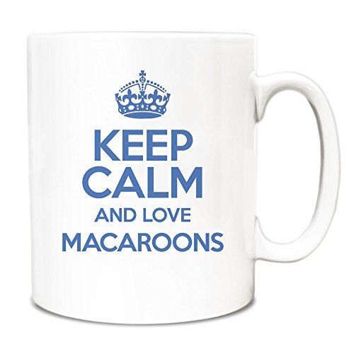 "Blu con scritta ""Keep Calm and Love Tazza TXT 2630 macaron"